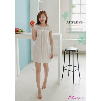 Anna Mu - Love River Slip NA11020025 (White) Chemises - CherryAffairs Singapore