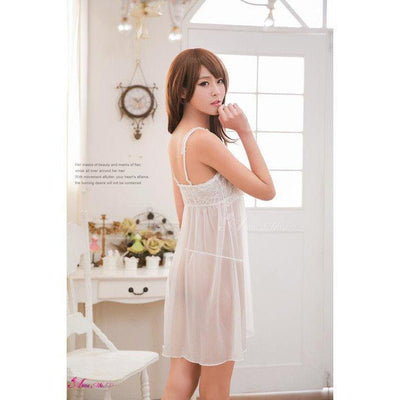 Anna Mu - Love Song Romantic Hanayome Two Pieces Sleepwear Babydoll NA16020065 (White) Chemises - CherryAffairs Singapore