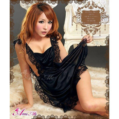 Anna Mu - Lovely Maid Sensational Apron NA09030006 (Black) Costumes - CherryAffairs Singapore