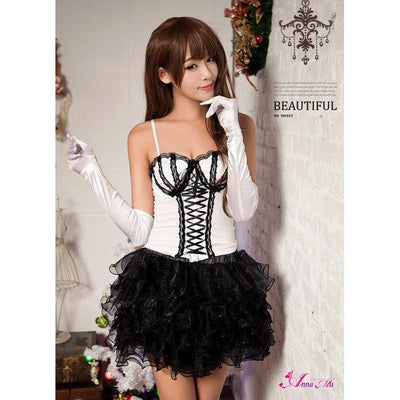 Anna Mu - Rocking Rose Multilayer Tutu One Piece Dress NA11030172-1 (Black) Costumes - CherryAffairs Singapore