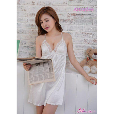 Anna Mu - Romantic Sweet NA09020220 (White) Chemises - CherryAffairs Singapore