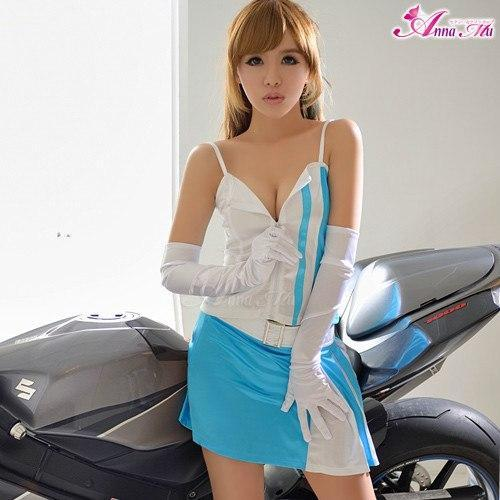Anna Mu - Sunny Sky CheerLeader Costume Set NA14030005 (Blue) | CherryAffairs Singapore