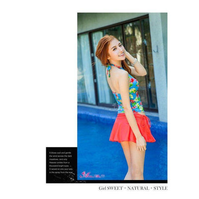 Anna Mu - Swimsuit NA12070028 (Blue) Swimwear - CherryAffairs Singapore