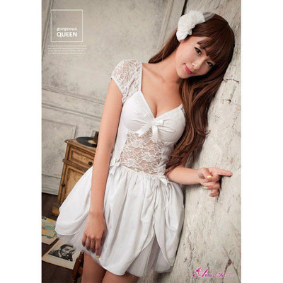 Anna Mu - Theme Party NA13030107 (White) Costumes - CherryAffairs Singapore