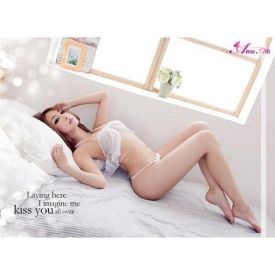 Anna Mu - Versatile Flirty Bra And Knickers NA13030027 (White) Lingerie (Non Vibration) - CherryAffairs Singapore