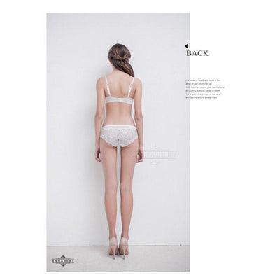 AnnaBery - Hanayome Beauty Back No Pad Rims Underwear Bra Set NA16040042 (White) Lingerie (Non Vibration) - CherryAffairs Singapore