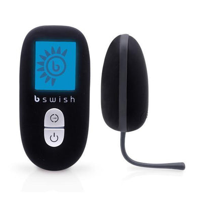 B Swish - Bnaughty Unleashed Premium Egg Vibrator (Black) Wireless Remote Control Egg (Vibration) Non Rechargeable - CherryAffairs Singapore