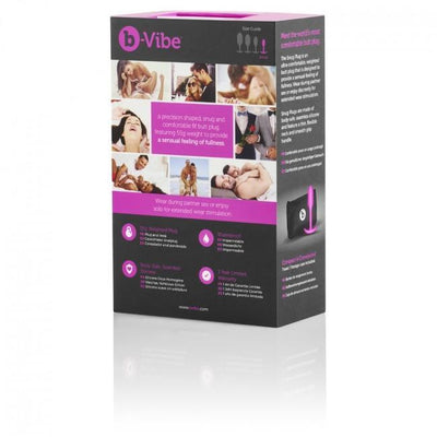 B-Vibe - Snug Plug 1 Weighted Silicone Anal Plug (Pink) | CherryAffairs Singapore