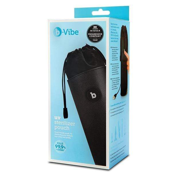 B-Vibe - UV Sterilizer Pouch with USB Cord (Black) Accessories 4890808223185 CherryAffairs