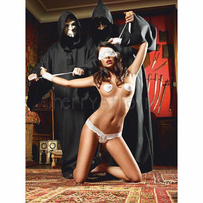Baci - White Wedding Love Slave Costume One Size Costumes - CherryAffairs Singapore