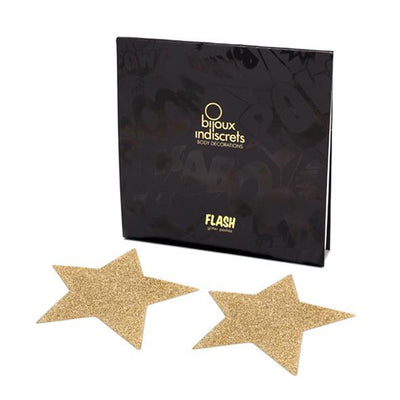 Bijoux Indiscrets - Flash Star Pasties (Gold) | CherryAffairs Singapore