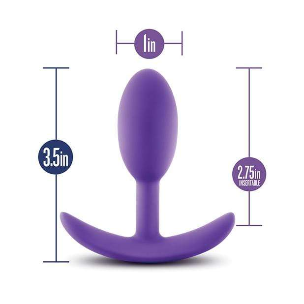 Blush Novelties - Luxe Wearable Vibra Slim Anal Plug Small (Purple)