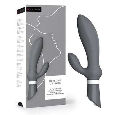 Bswish - Bfilled Deluxe Prostate Massager (Grey) Prostate Massager (Vibration) Non Rechargeable Singapore