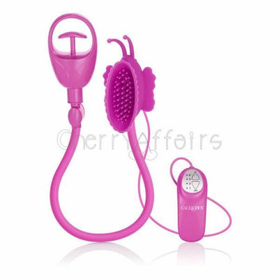 California Exotics - Advanced Butterfly Clitoral Pump (Pink) Clitoral Pump (Vibration) Non Rechargeable - CherryAffairs Singapore