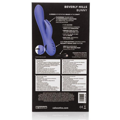 California Exotics - California Dreaming Beverly Hills Rechargeable Bunny Vibrator (Purple) Rabbit Dildo (Vibration) Rechargeable Singapore