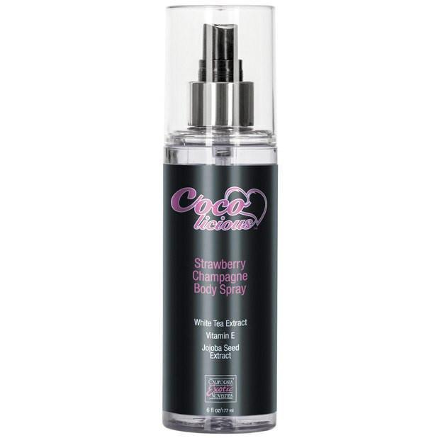 California Exotics - Cocolicious Strawberry Champagne Body Spray 6 Ounce (Black) Pheromones - CherryAffairs Singapore