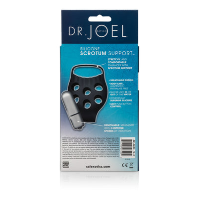 California Exotics - Dr. Joel Kaplan Silicone Scrotum Support (Black) Silicone Cock Ring (Vibration) Non Rechargeable Singapore