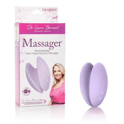 California Exotics - Dr Laura Berman Massager Palm-Sized Silicone Clit Massager (Purple) Clit Massager (Vibration) Rechargeable Singapore