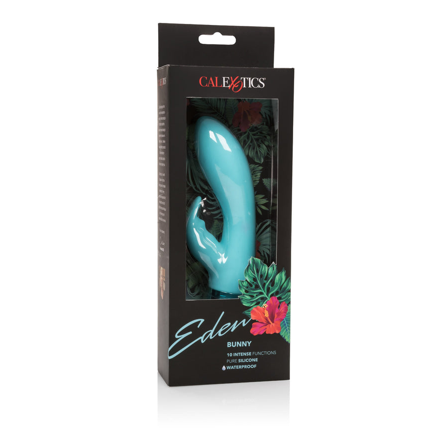 California Exotics - Eden Silicone Waterproof Bunny Vibrator (Blue) Rabbit Dildo (Vibration) Non Rechargeable Singapore