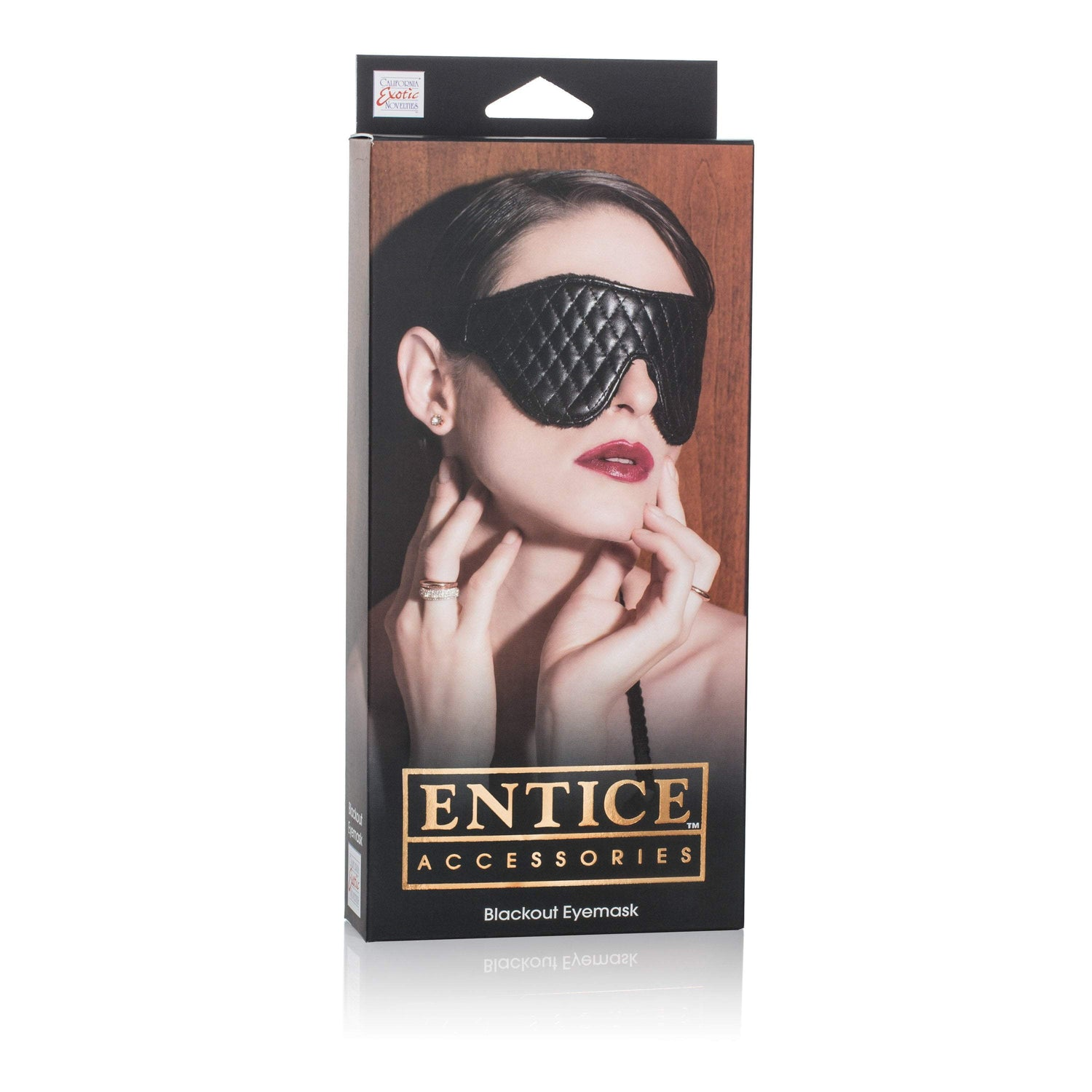 California Exotics - Entice Blackout Eyemask (Black) | CherryAffairs Singapore