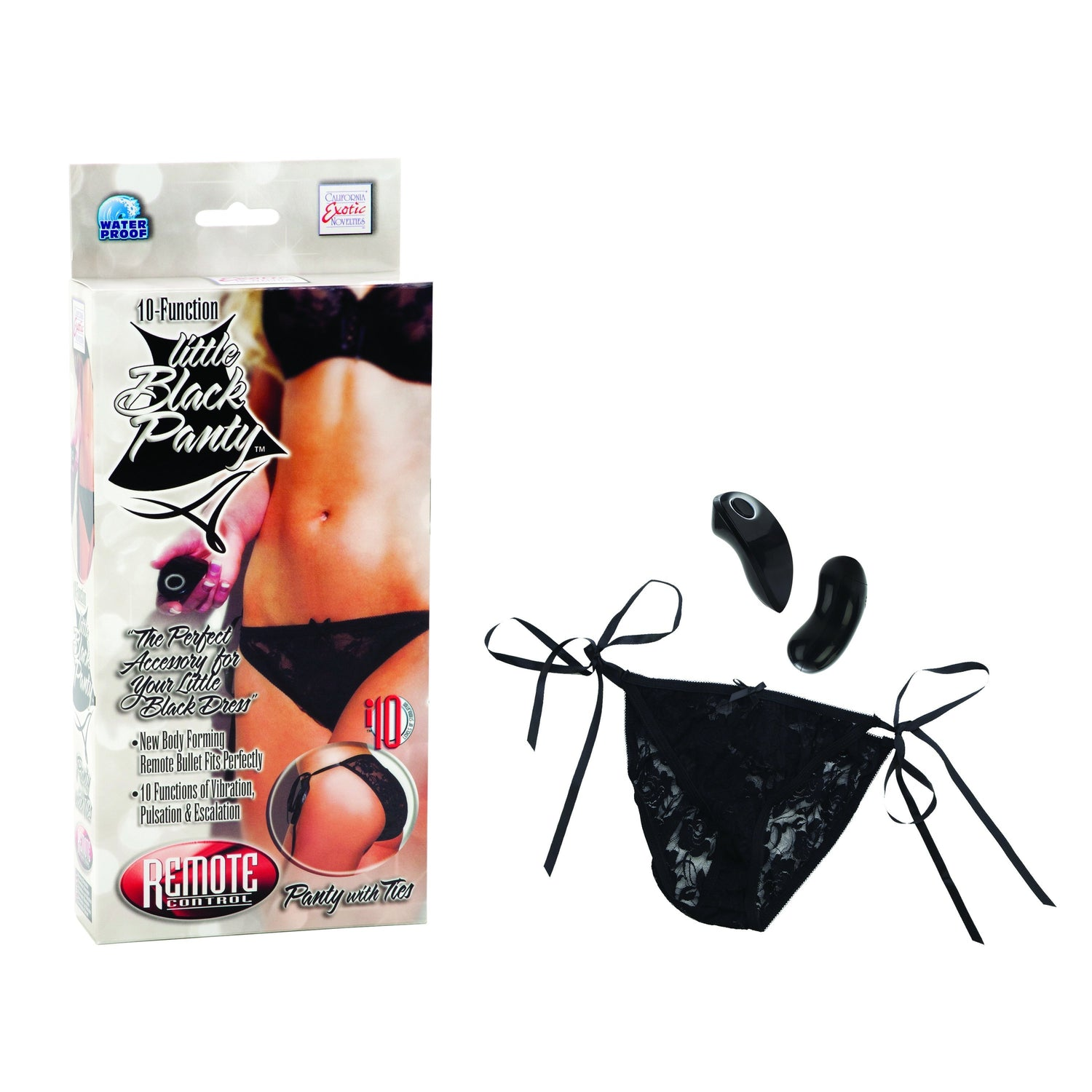 California Exotics - Little Black Panty Remote Control 10 Function Vibrating Panty (Black) | CherryAffairs Singapore