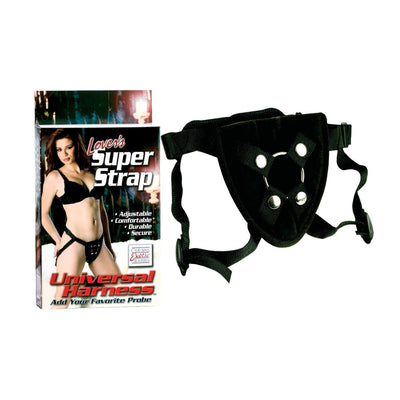 California Exotics - Lover's Super Strap Universal Harness (Black) Strap On w/o Dildo - CherryAffairs Singapore