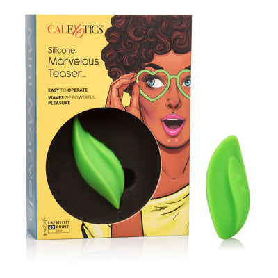 California Exotics - Mini Marvels Silicone Marvelous Teaser Clit Massager (Green) Clit Massager (Vibration) Rechargeable Singapore