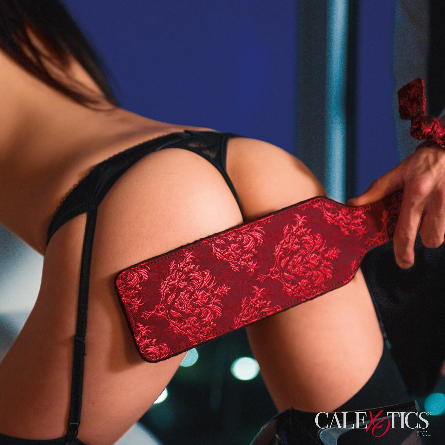 California Exotics - Scandal Paddle with Tag (Red) | CherryAffairs Singapore