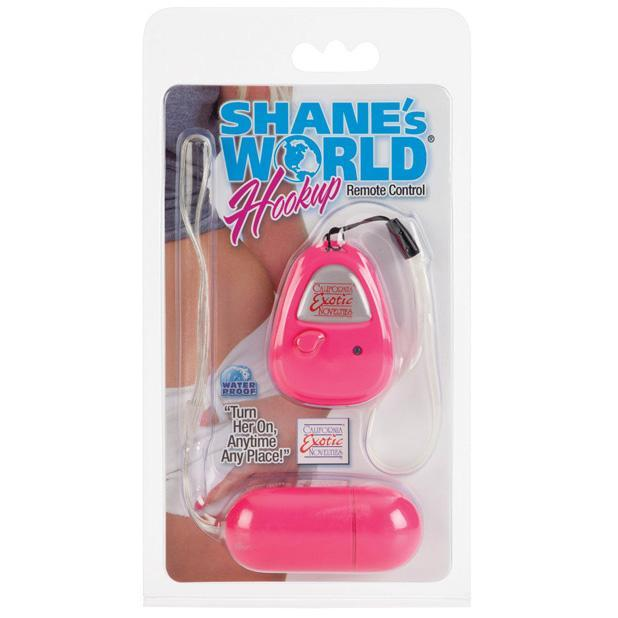 California Exotics - Shane's World Hookup Remote Control Egg Vibrator (Pink) Wireless Remote Control Egg (Vibration) Non Rechargeable Singapore