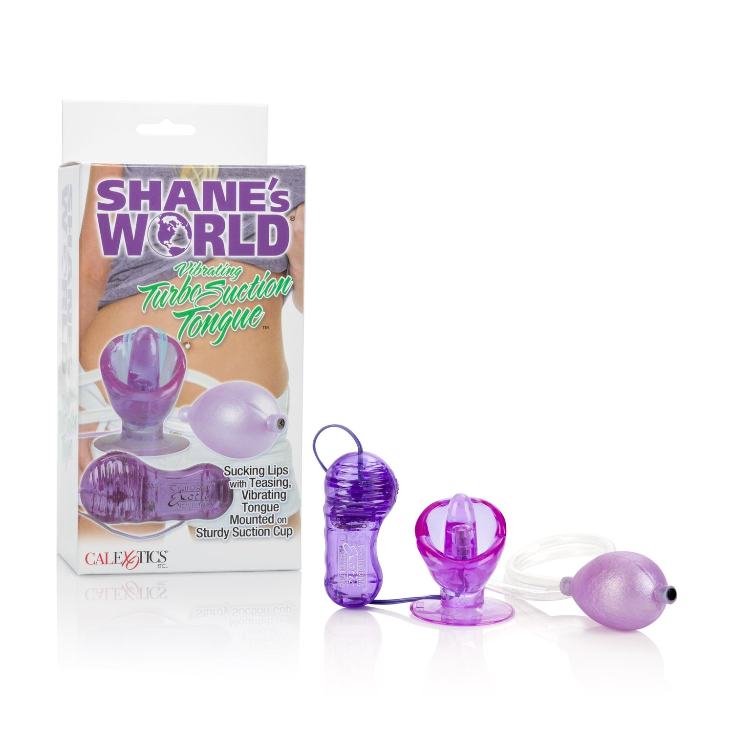 California Exotics - Shane's World Vibrating Turbo Suction Tongue Clit Massager (Purple) | CherryAffairs Singapore
