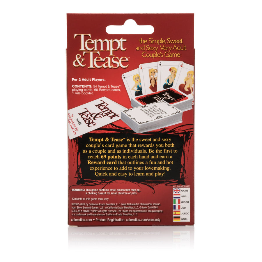 California Exotics - Tempt & Tease Card Game (Red) Games Singapore