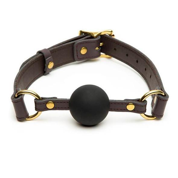 Coco de Mer - Leather Ball Gag (Brown) | CherryAffairs Singapore