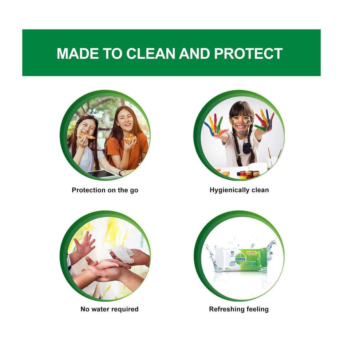 Dettol - Anti Bacterial Wet Wipes 10S