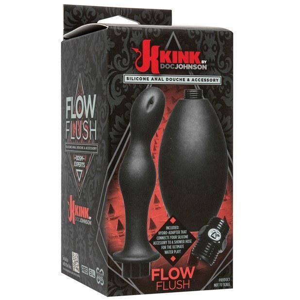 Doc Johnson - Kink Flow Silicone Anal Douche & Accessory (Black) Anal Douche (Non Vibration) - CherryAffairs Singapore