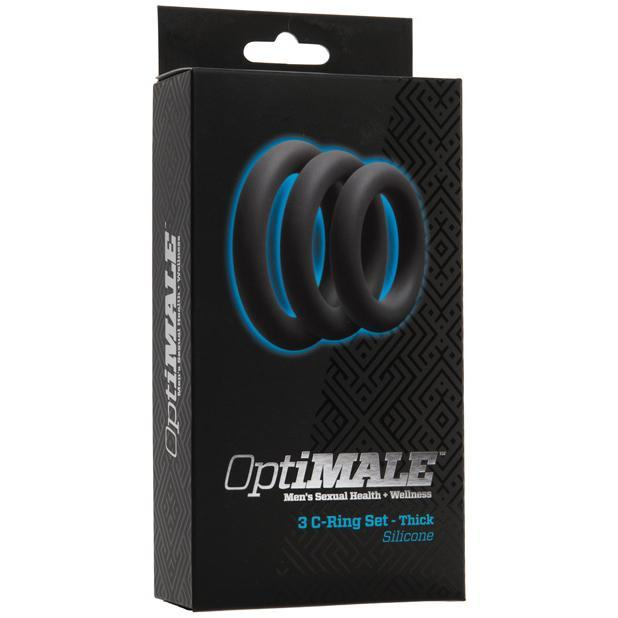 Doc Johnson - Optimale 3 C-Ring Kit Thick (Slate) | CherryAffairs Singapore