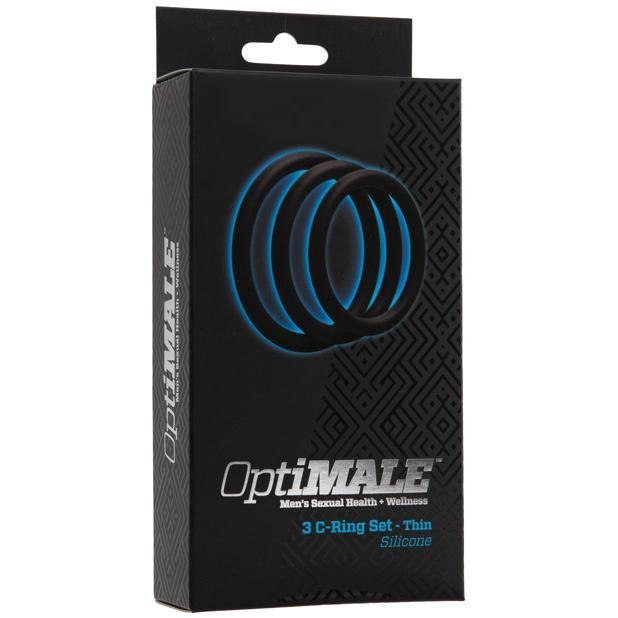 Doc Johnson - Optimale 3 C-Ring Kit Thin (Black) | CherryAffairs Singapore
