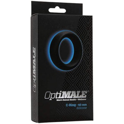 Doc Johnson - Optimale Cock Ring Thick 40mm (Black) | CherryAffairs Singapore