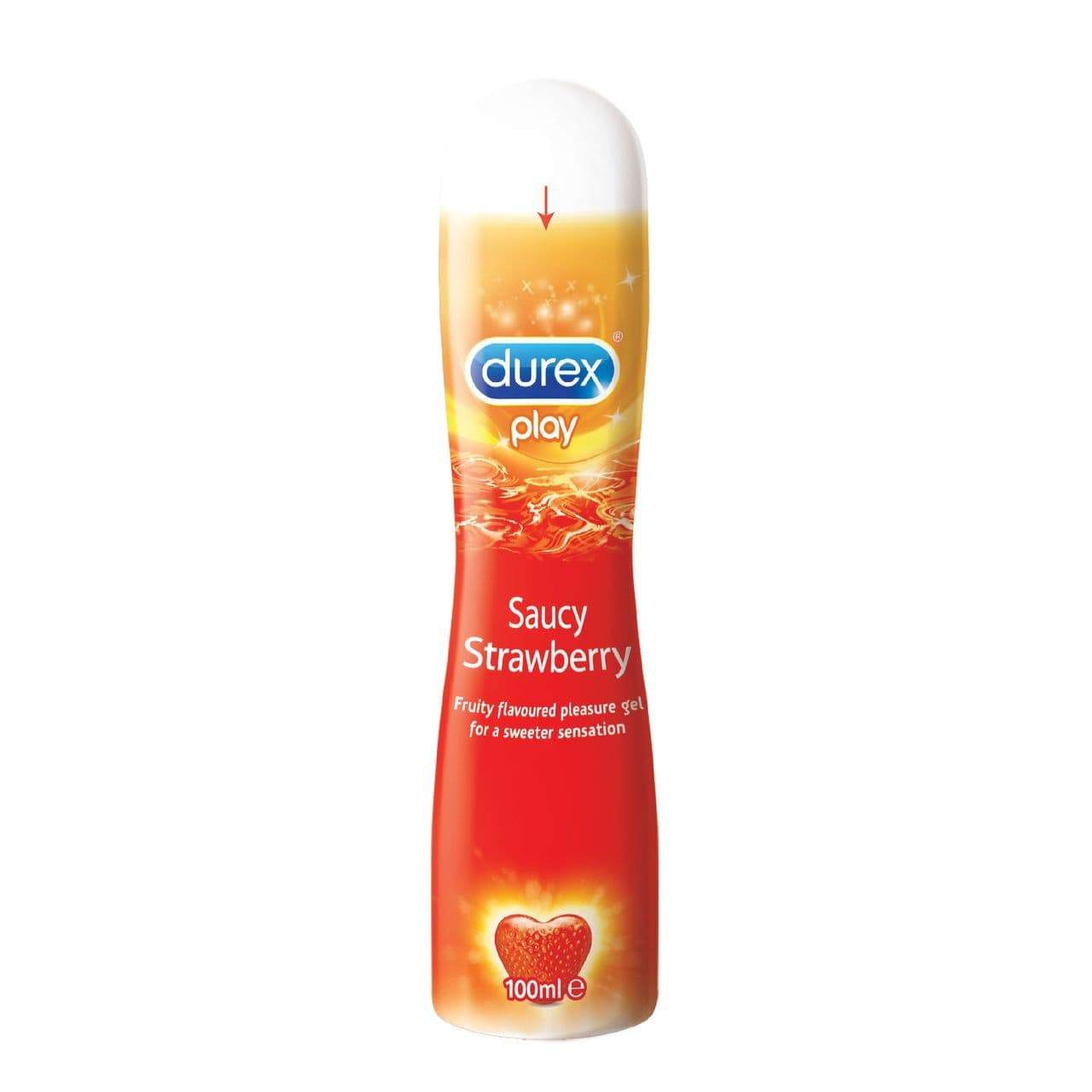 Durex - Play Saucy Strawberry Pleasure Gel 100 ml (Lube) Lube (Water Based) 5038483869178 CherryAffairs