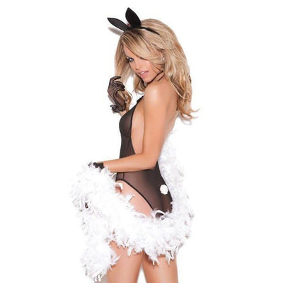 Elegant Moments - Vivace 3 Piece Mesh Teddy, Neck & Head Piece One Size (Black) Costumes - CherryAffairs Singapore