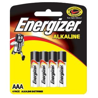 Energizer - Alkaline E92 Battery Pack of 4 AAA Battery Singapore