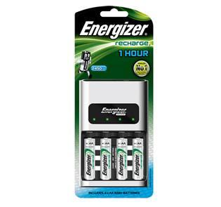 Energizer - Recharge CH1HR3 1 Hour Charger 4 AA Battery Singapore