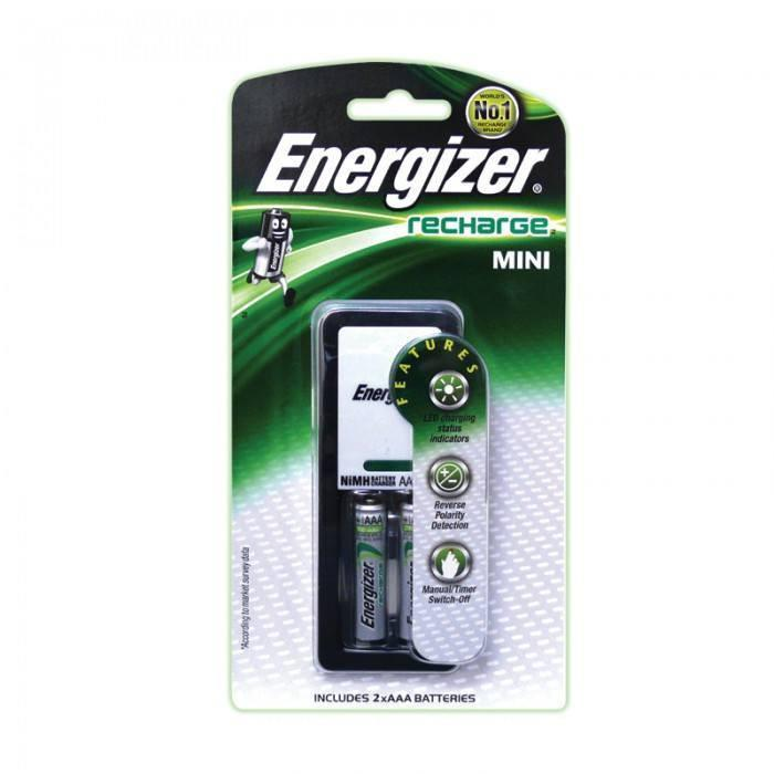 Energizer - Recharge CH2PC3 Mini Charger 2 AAA Battery - CherryAffairs Singapore