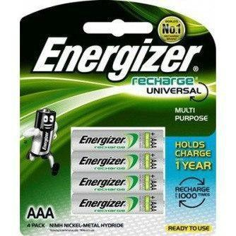 Energizer - Recharge Power Plus NH12U Pack of 4 AAA (700 mAh) Battery - CherryAffairs Singapore