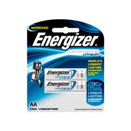 Energizer - Ultimate Lithium L91 Battery Pack of 2 AA Battery Singapore