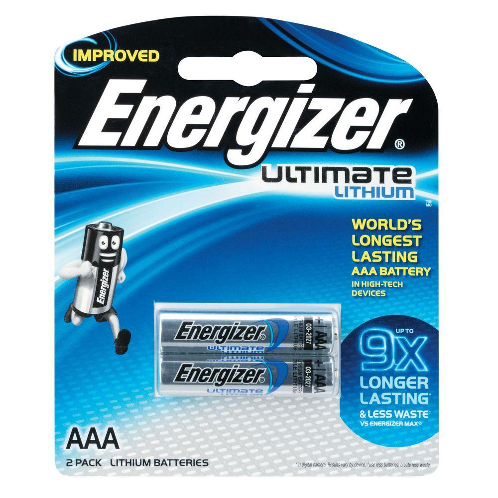 Energizer - Ultimate Lithium L92 Battery Pack of 2 AAA | CherryAffairs Singapore