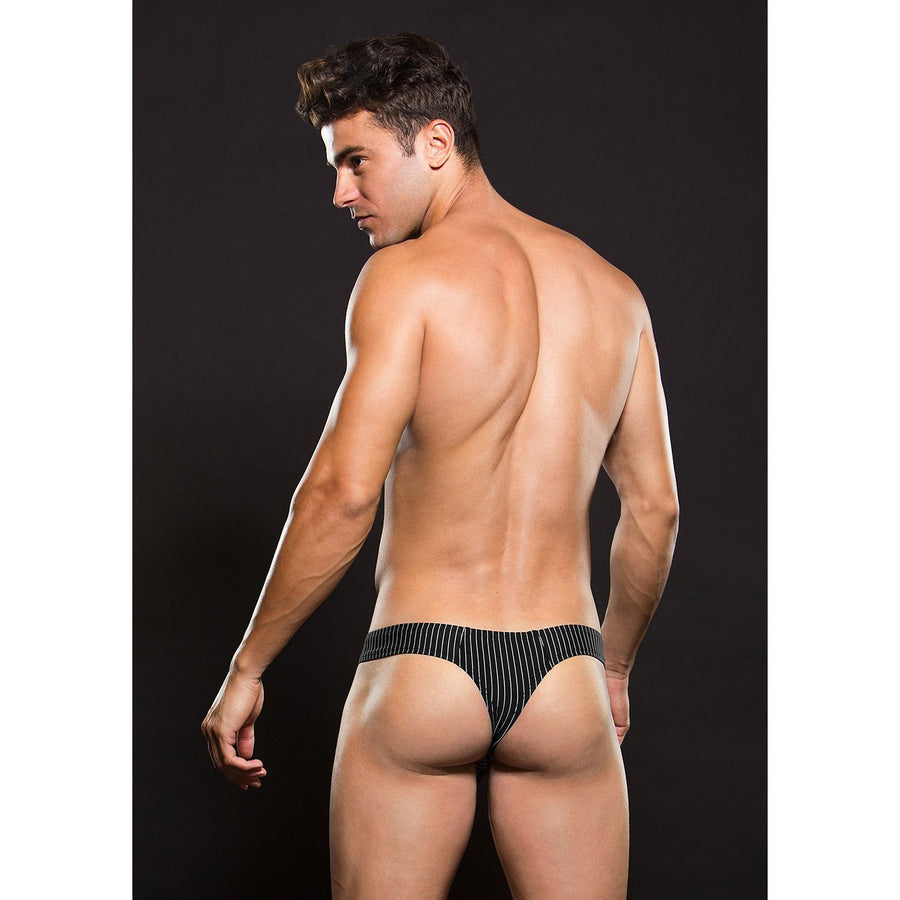 Envy - Thong With Pinstripe L/XL (Black) Mens Wear Singapore