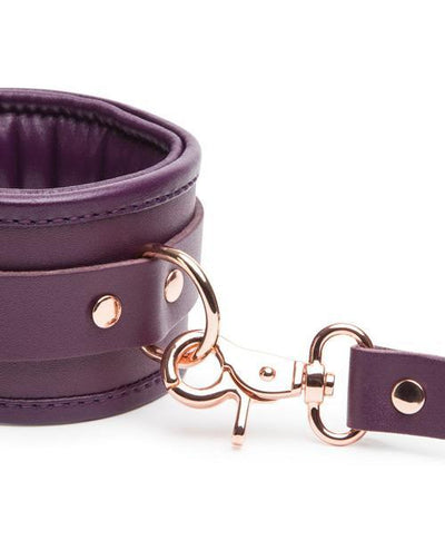 Fifty Shades Freed - Cherished Collection Leather Ankle Cuffs (Purple) Hand/Leg Cuffs Singapore