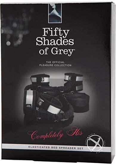 Fifty Shades of Grey - Completely His Elasticated Bed Spreader Set Hand/Leg Cuffs Singapore