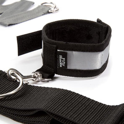 Fifty Shades of Grey - Keep Still Over the Bed Cross Restraint Set | CherryAffairs Singapore