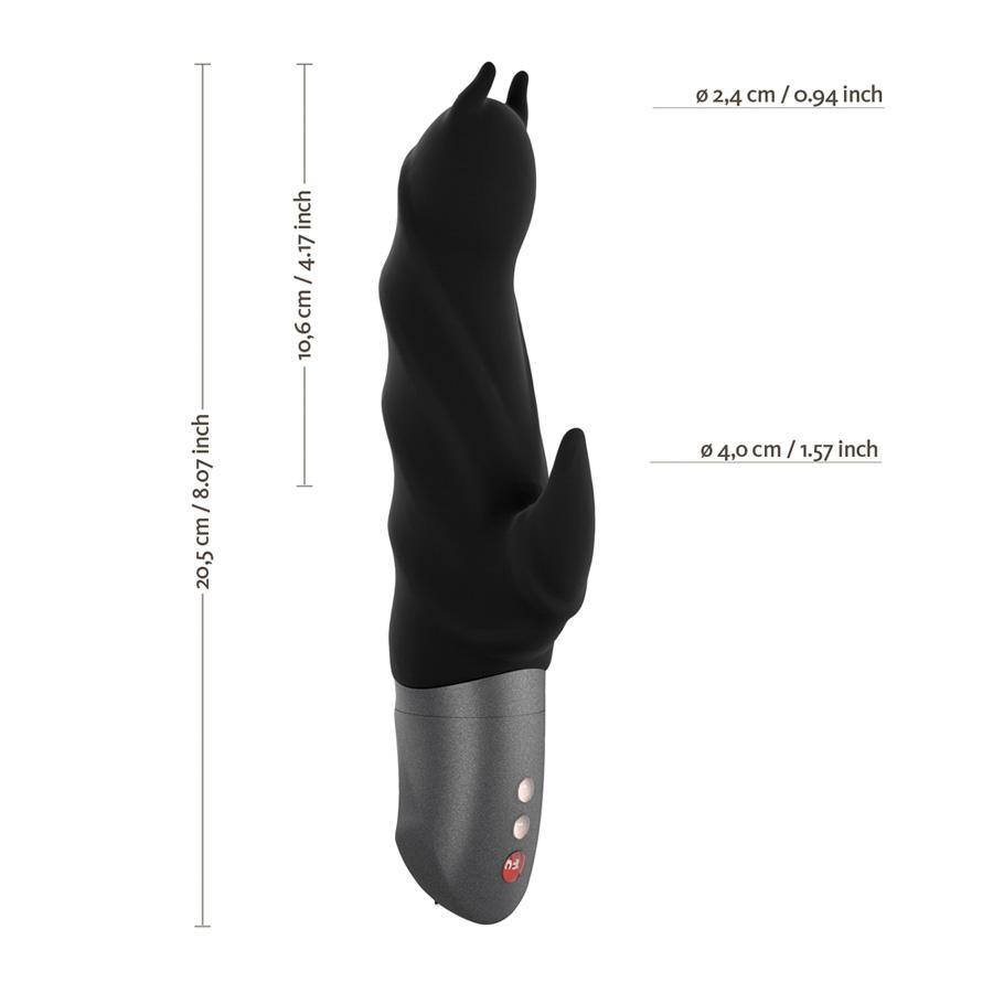 Fun Factory - Darling Devil Rabbit Vibrator (Black) Rabbit Dildo (Vibration) Rechargeable - CherryAffairs Singapore